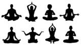 meditation silhouettes