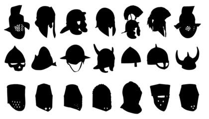 helmet silhouettes