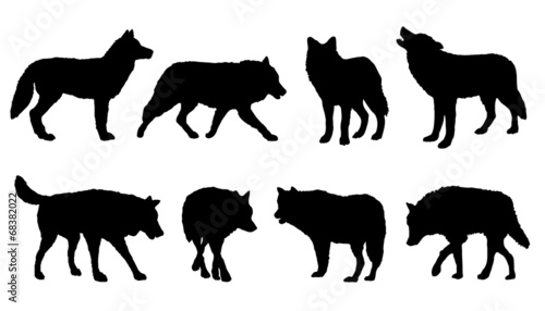 wolf silhouettes - 68382022