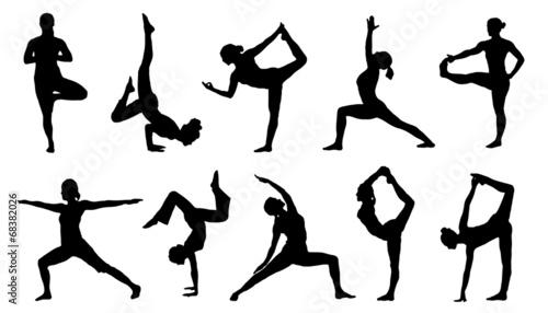 yoga silhouettes - 68382026