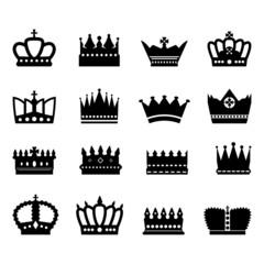 Crown Icons Set