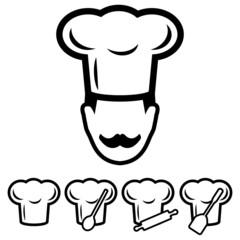 Chef Hat Icons Set