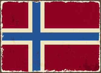 Norwegian grunge flag. Vector illustration