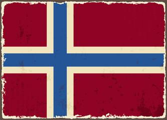 Norwegian grunge flag. Vector illustration