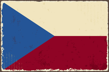 Czech Republic grunge flag. Vector illustration