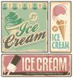 Ice cream vintage metal signs set - 68383866