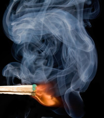 Smoke from a lighted match