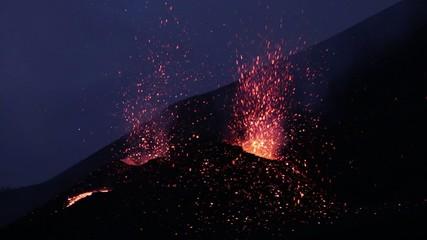 Volcano Etna eruption july 2014 - Catania, Sicily