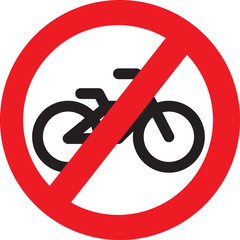 no bike allowed sign