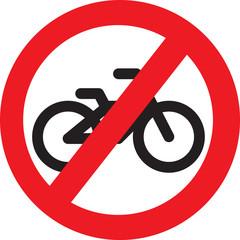 no bike allowed sign