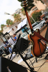 Guitar and musical instruments, musical performance
