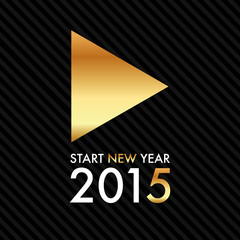 Silvester 2015 - Gold Play Button - Start new year
