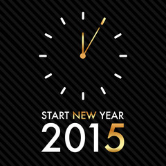 Silvester 2015 - Clock 5 past 12 - Start new year