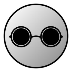 Glasses button
