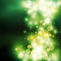 Green bokeh light background