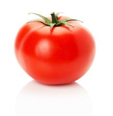 ripe tomato isolated on the white background