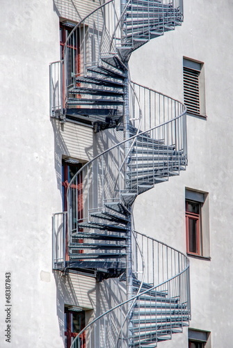 canvas print picture Wendeltreppe