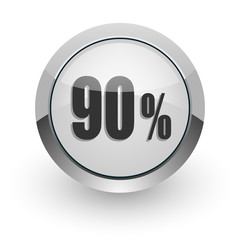 90 percent internet icon