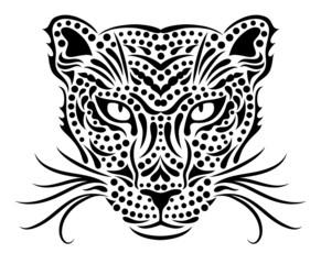 Head of a wild leopard.