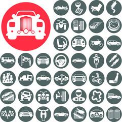 Auto icons set. Illustration eps10