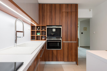 Contemporary kitchen interior in modern house