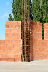 Brick walls with  tie-columns