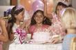 Girls at birthday party