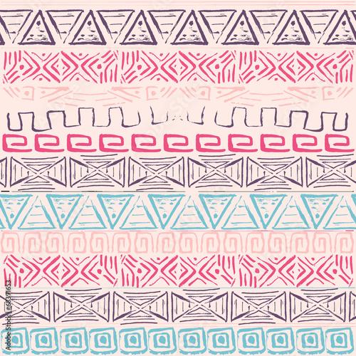 Vector retro pattern. Aztec background. - 68391653