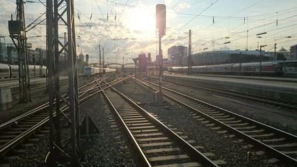 Bahngleise Bahnhof
