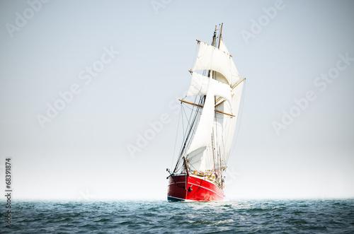 Red schooner - 68391874