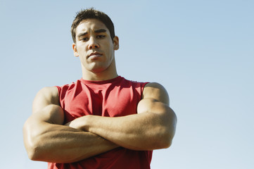 Male athlete posing for the camera