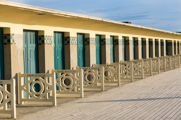 Beach huts in Deauville, France