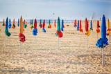 The famous colorful parasols on Deauville Beach - Fine Art prints