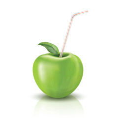 Straw for apple