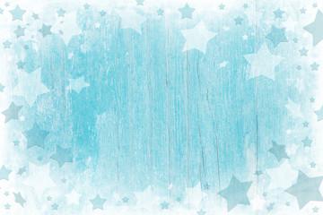 Weihnachtlicher Hintergrund aus Holz in Blau, Türkis, Weiß © Jeanette Dietl
