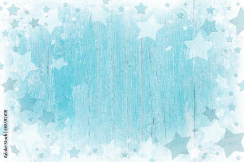 Weihnachtlicher Hintergrund aus Holz in Blau, Türkis, Weiß