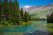 Leinwanddruck Bild - into swiftcurrent lake