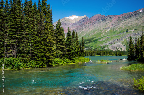Aluminium Rivier into swiftcurrent lake