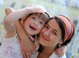 Fototapety Happy family moments - Mother and child have fun
