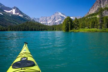 kayaking, swiftcurrent lake