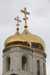 Domes of the Cathedral of Christ the Savior in Pyatigorsk