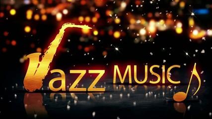Jazz Music Saxophone Gold City Bokeh Yellow Loop Animation