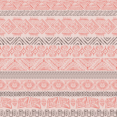 Vector retro pattern. Aztec background.