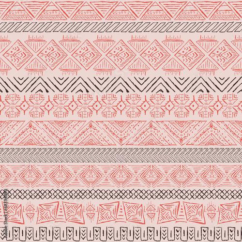 Vector retro pattern. Aztec background. - 68394090