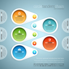 Circle Tandem Chain Infographic