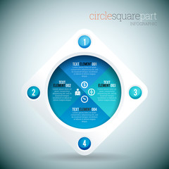 Circle Square Part Infographic