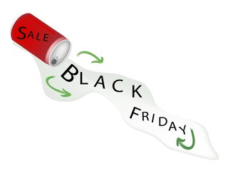 Red Aluminum Can with Black Friday Sale