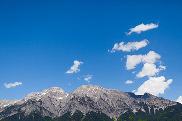 The Alps and blue sky background