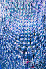 abstract blue background with multitude of crystals