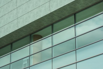 Modern architecture building windows glass refflection
